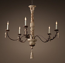 18th C. Acanthus Leaf Chandelier 36""