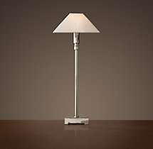 Pyramid Telescoping Table Lamp With Linen Shade