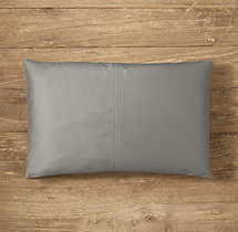 Custom Thai Silk Solid 4-Square Lumbar Pillow Cover