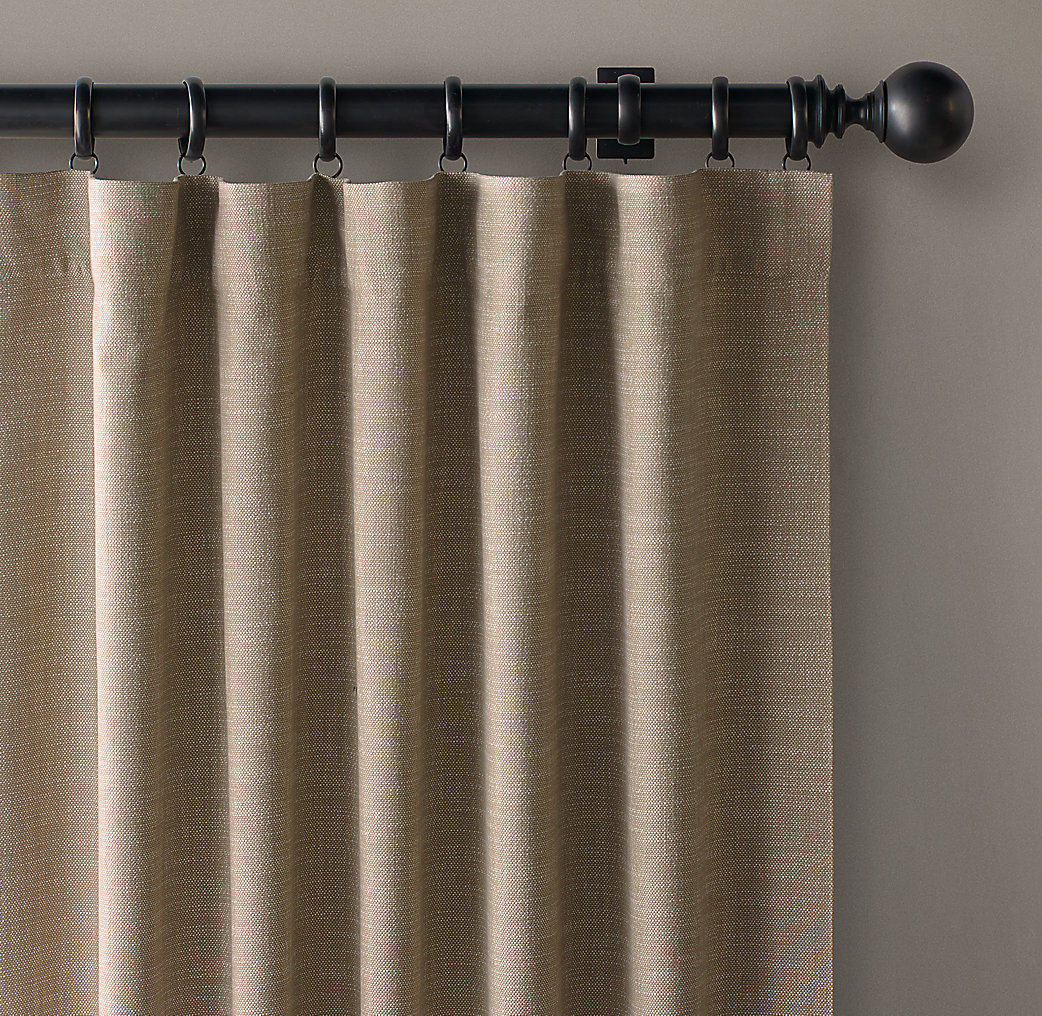 Hanging Rod Pocket Curtains With Rings Large Rod Pocket Curtains