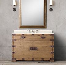 Heirloom Silver-Chest Single Extra-Wide Vanity