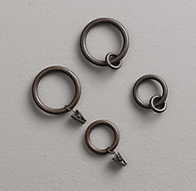 Cast Iron Drapery Rings (Set of 7) - Vintage Bronze