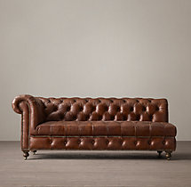 Cambridge Leather Left-Arm Sofa