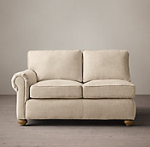 Classic Lancaster Upholstered Left-Arm Sofa