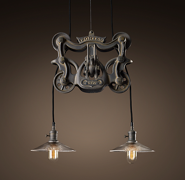 Pulley Pendant Lights Kitchen