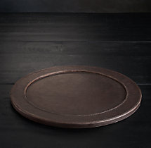 Italian Leather Charger Plate