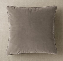 Custom Vintage Velvet Piped Square Pillow Cover
