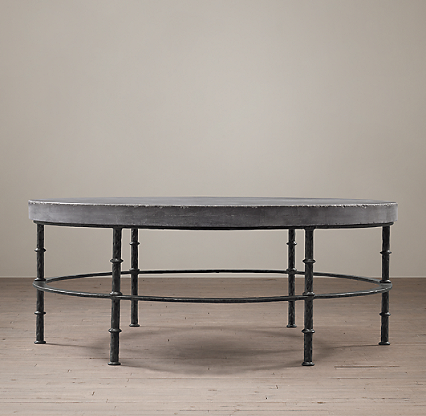 Coffee Table With Bluestone Top: Rowen Bluestone Round Coffee Table