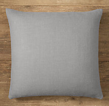 Custom Heavyweight Belgian Linen Knife-Edge Square Pillow Cover