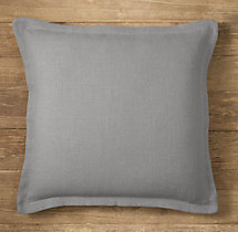 Custom Heavyweight Belgian Linen Flanged Square Pillow Cover