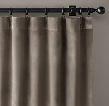 Perennials® Velvet Drapery - Rod Pocket