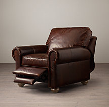 Classic Lancaster Leather Recliner