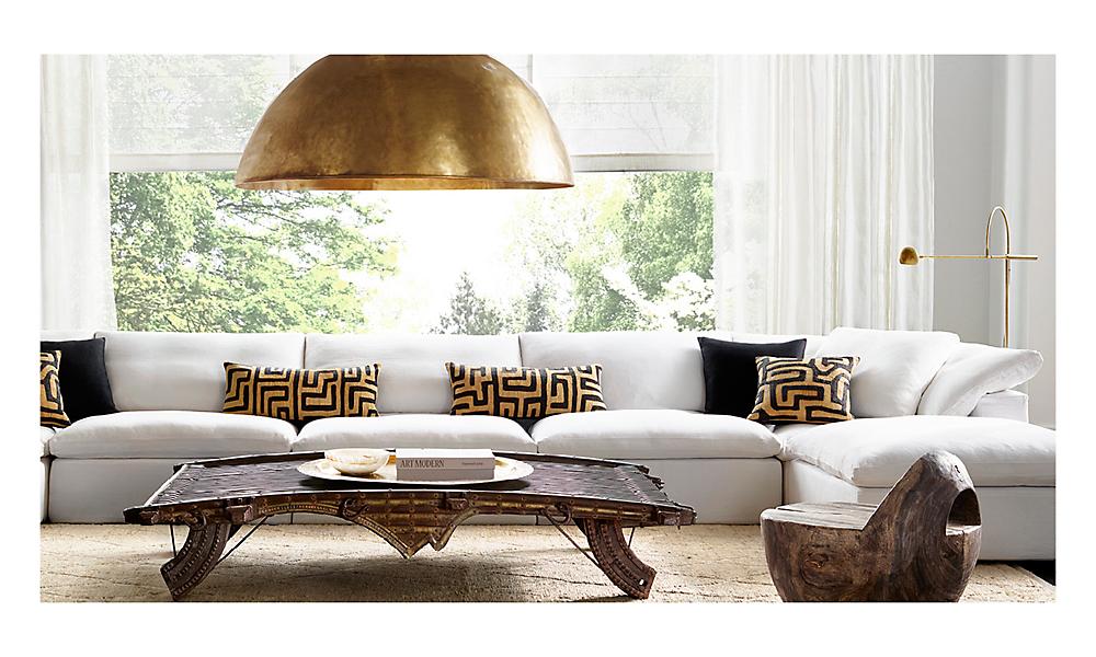 restoration hardware living room home design inspirations