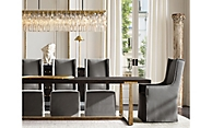 shop Campaign Black and T Brace Rectangular Dining