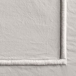 Italian Bold Satin Stitch Cotton Duvet Cover