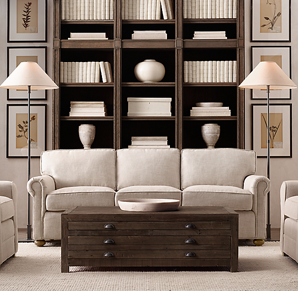 ... Restoration Hardware Lancaster Sofa Dimensions By Printmaker S 48 Quot  Coffee Table ...