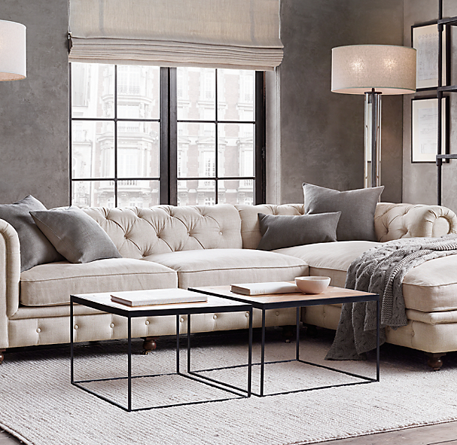 Petite Kensington Upholstered Customizable Sectional