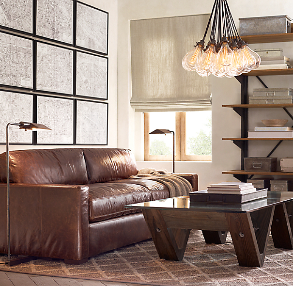 Maxwell Leather Sofa: Petite Maxwell Leather Sofa