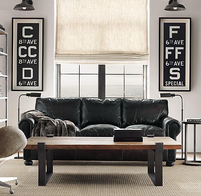 84 Original Lancaster Leather Sofa Color Preview Unavailable