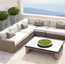 Provence Classic Three-Seat Left-Arm Return Sofa