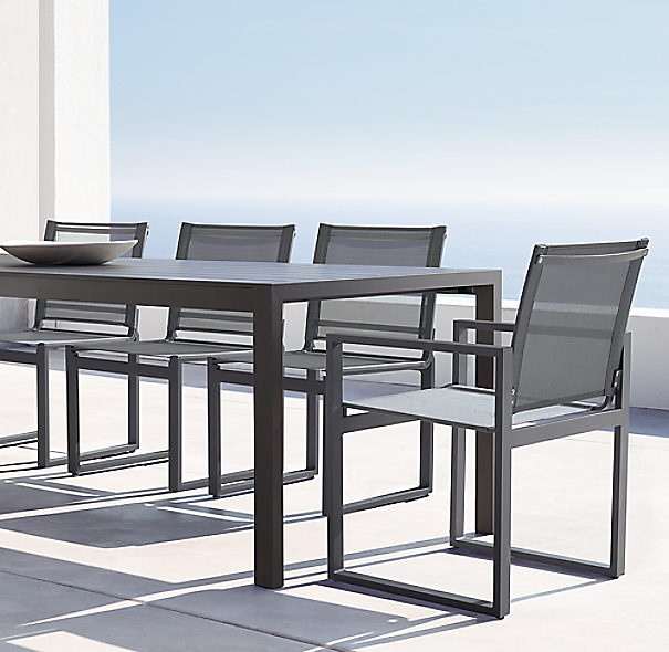 Aegean Aluminum Rectangular Dining Table