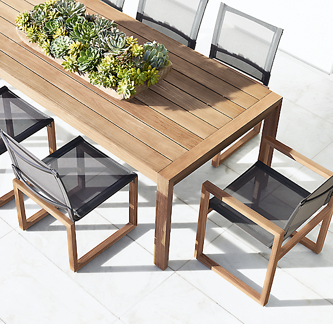 Aegean Teak Rectangular Dining Table Color Preview Unavailable Alternate View 1 2 3 4