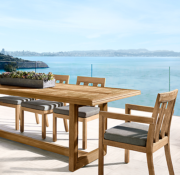 Costa Teak Rectangular Dining Table
