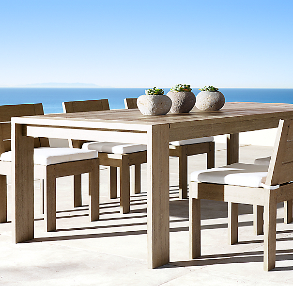 Marbella Teak Rectangular Dining Table Weathered Teak