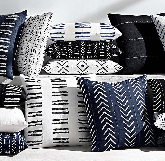 Sunbrella African Mud Cloth Pillow Collection