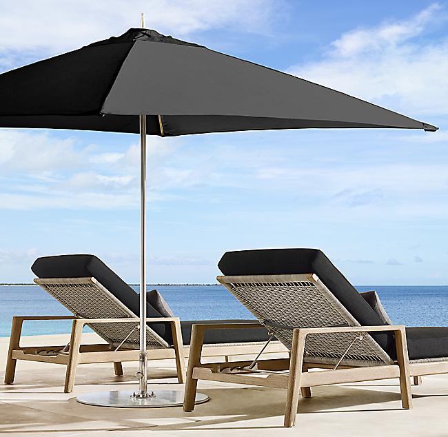 Tuuci Ocean Master Square Umbrella Polished Aluminum
