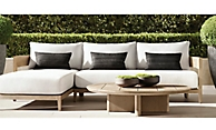 shop Balmina Weathered Teak Sectional