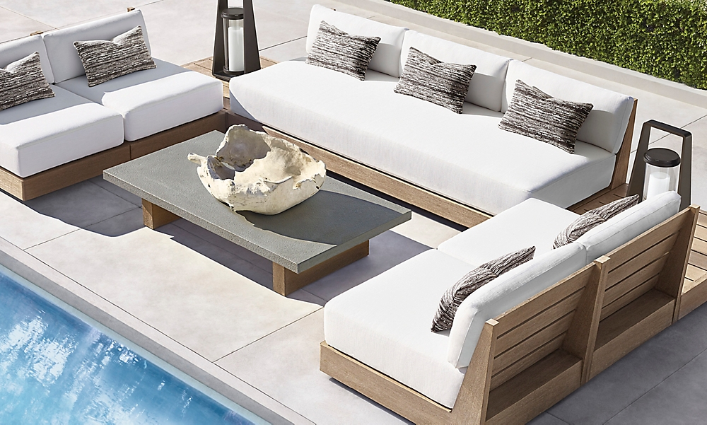 shop Gomera Weathered Teak Sectional