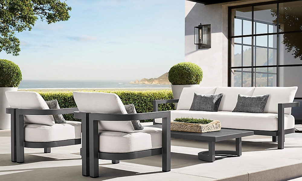 shop Portofino Slate Metal Low Seating