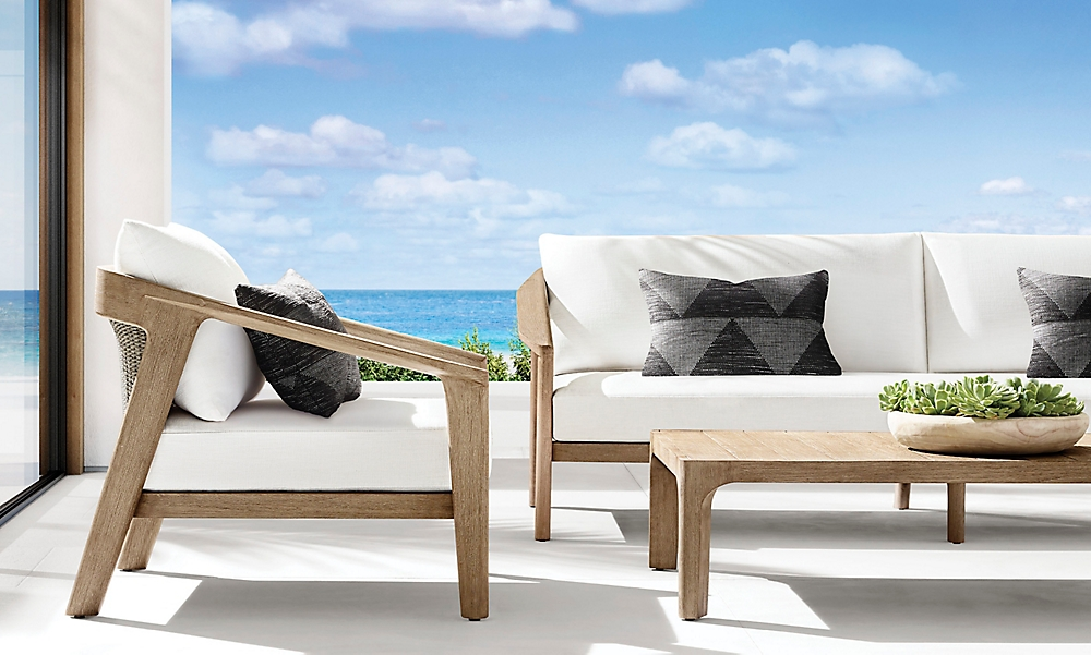 shop Isla Weathered Teak Low Seating