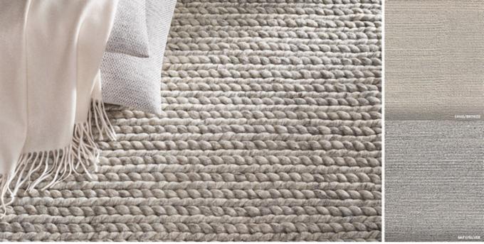 Metallic Chunky Braided Wool Rug