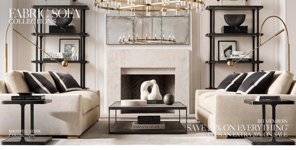 restoration hardware living room Sofa Collections | RH restoration hardware living room