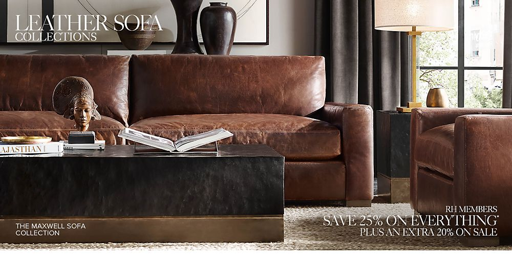 shop leather sofa collections