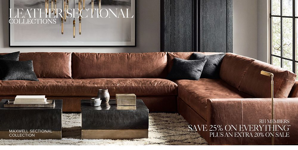Shop leather sectionals