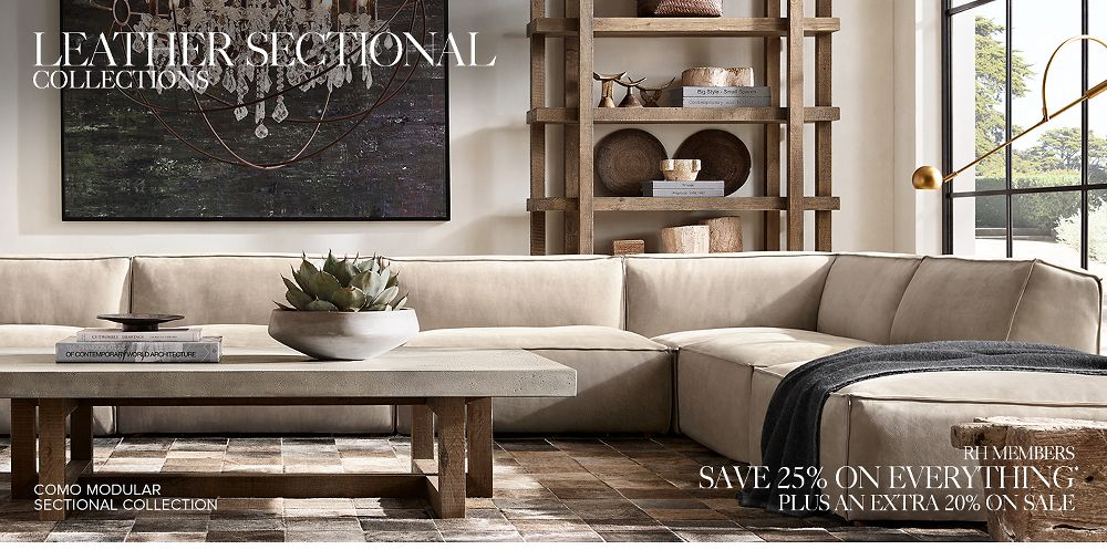 Shop Our Leather Sectional Collections