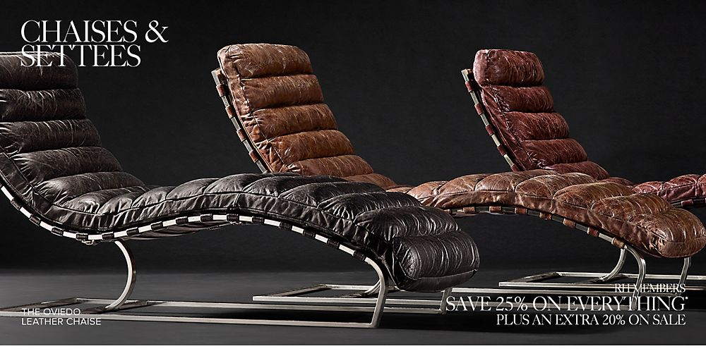 Shop Our Leather Chaise Collections