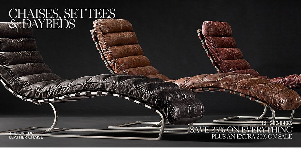 Shop Leather Chaises