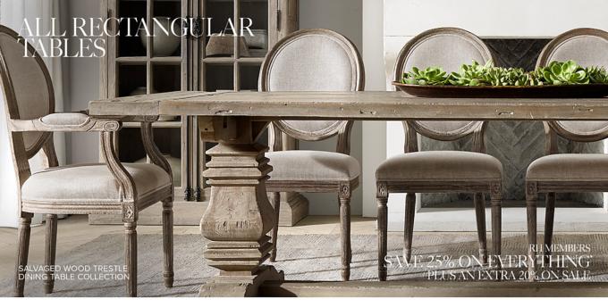 rectangular tables rh rh restorationhardware com restoration hardware dining room table diy restoration hardware dining room table for sale
