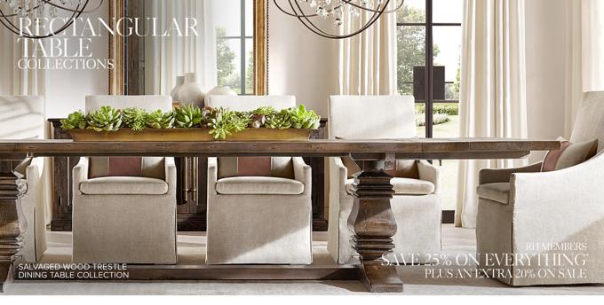 rectangular table collections rh rh restorationhardware com restoration hardware dining room table centerpieces restoration hardware dining room table diy
