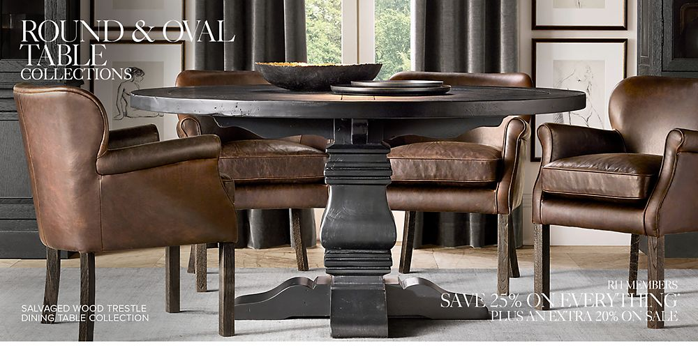 Round & Oval Table Collections | RH