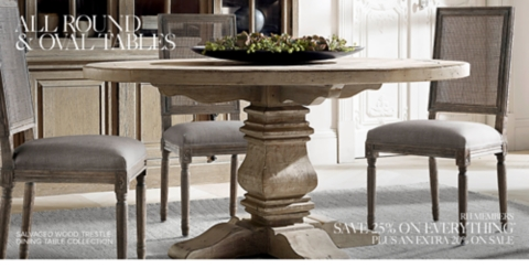 Shop All Round Tables & Round u0026 Oval Tables | RH