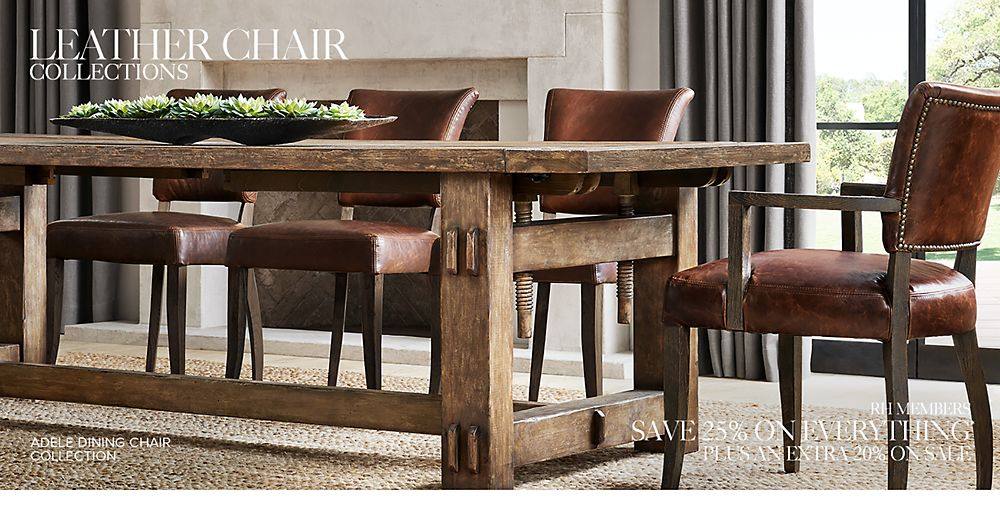 Shop Our Leather Dining Chair Collections