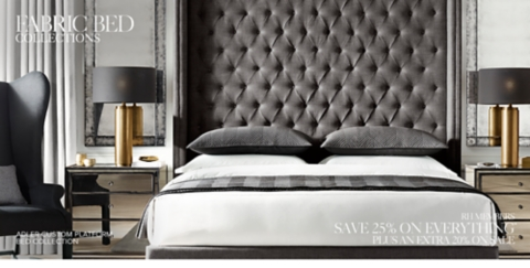 lovely Restoration Hardware Adler Bed Reviews Part - 14: Shop Our Custom Fabric Bed Collections