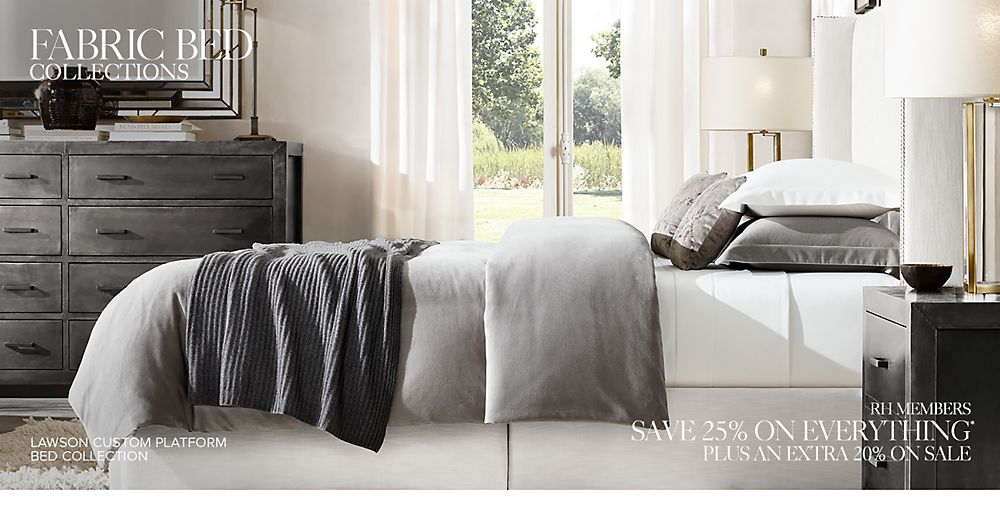 Fabric Bed Collections Rh