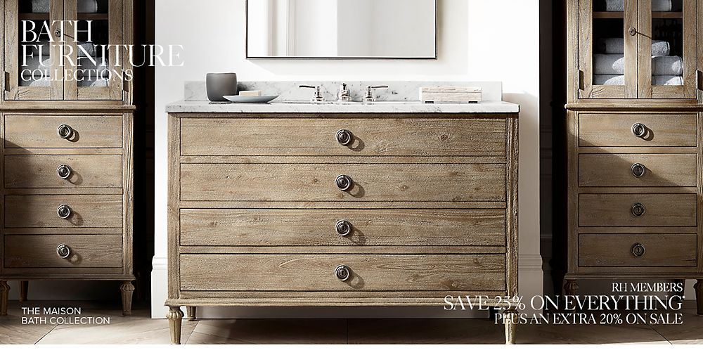 Shop bath furniture collections. Bath Collections   RH