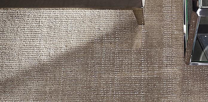 metallic distressed wool rug collection | rh